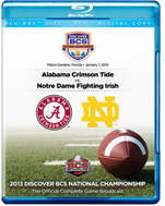 2013 Notre Dame vs Alabama BCS Title Game DVD/Blu-Ray Combo Pack