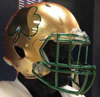Notre Dame 2013 Shamrock Series HydroFx Revolution Speed New Gold Mini Helmet
