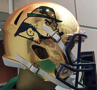 Notre Dame 2015 Shamrock Series Interlocking ND Hydrofx Authentic Speed Full Size Football Helmet