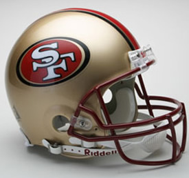 San Francisco 49ers Replica Helmet