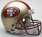 San Francisco 49ers Authentic Full Size Helmet
