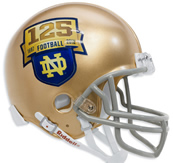 Notre Dame Fighting Irish 125th Anniversary Limited Edition Mini Helmet