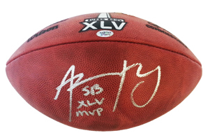 04e17bd744f Aaron Rodgers Autographed Super Bowl XLV Official Football