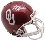 Adrian Peterson autographed authentic full size Oklahoma Sooners helmet