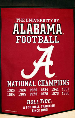 Alabama Dynasty Banner Wool