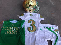Amir Carlisle #3 Game Worn Notre Dame 2013 Shamrock Series Game Uniform Set