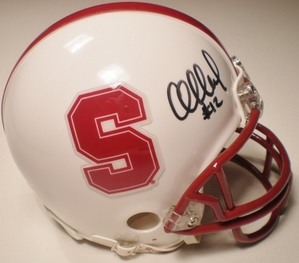 Andrew Luck autographed Stanford Cardinal mini helmet