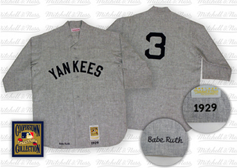 separation shoes 5b4fc 6f404 Babe Ruth New York Yankees 1929 Road Jersey Mitchell and Ness