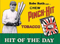 Babe Ruth Tobacco Tin Sign