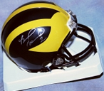Braylon Edwards autographed Michigan Wolverines mini helmet