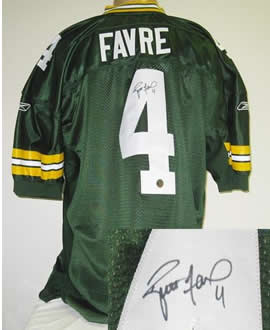 b171380cd ... Brett Favre signed authentic Green Bay Packers Reebok Jersey ...
