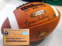 Brian Kelly autograph Notre Dame Football
