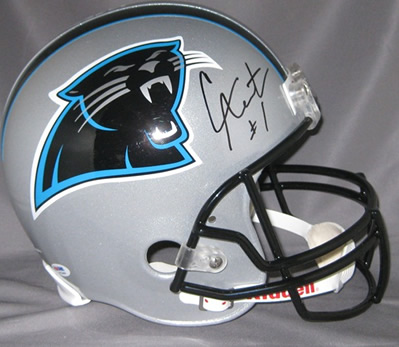 Cam Newton Signed Carolina Panthers Full Size Riddell Helmet