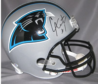 Cam Newton autographed Carolina Panthers mini helmet
