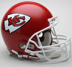 Kansas City Chiefs replica helmet