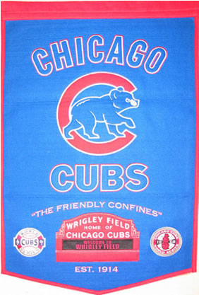 Chicago Cubs Dynasty Banner Wool