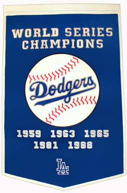 Los Angeles Dodgers Dynasty Banner Wool