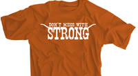Don't Mess With Strong Texas Orange Shirt
