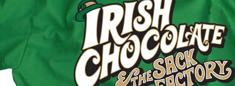 Irish Chocolate and The Sack Factory Green Shirt