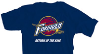 Cleveland Forgiven Return of the King Blue Shirt