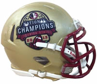 Florida State Seminoles 2013 BCS National Champions Riddell Speed Mini Helmet