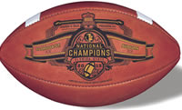Wilson Official Leather FSU Florida State Seminoles 2013 BCS National Champs NCAA Football - F1005