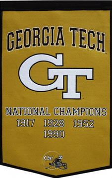 Georgia Tech Yellow Jackets Dynasty Banner Wool