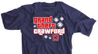 Grand Theft Crawford Baseball T-shirt