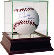 Greg Maddux Autographed Hall of Fame 2014 Baseball