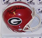 Herschel Walker autographed Georgia Bulldogs mini helmet