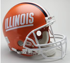 Illinois Fighting Illini mini helmet
