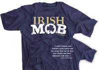 Irish Mob cotton t-shirt and performance t-shirt