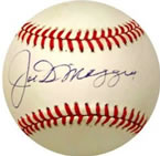 Joe Dimaggio autographed baseball with COA