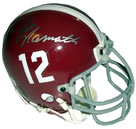 Joe Namath autographed Alabama Mini Helmet