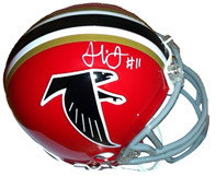 Julio Jones Autographed Atlanta Falcons Throwback Mini Helmet