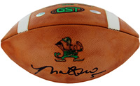 Manti Te'o signed Notre Dame Game Model Football