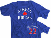 Maple Jordan Basketball Shirt