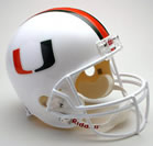 Miami Hurricanes Authentic Full Size Helmet