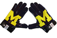 University of Michigan Adidas Football Gloves Shirt