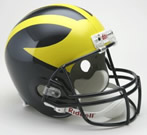 Michigan Wolverines Authentic Full Size Helmet