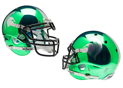Michigan State Spartans Authentic SCHUTT XP CHROME Helmet