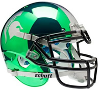 Michigan State Spartans CHROME Mini Helmet