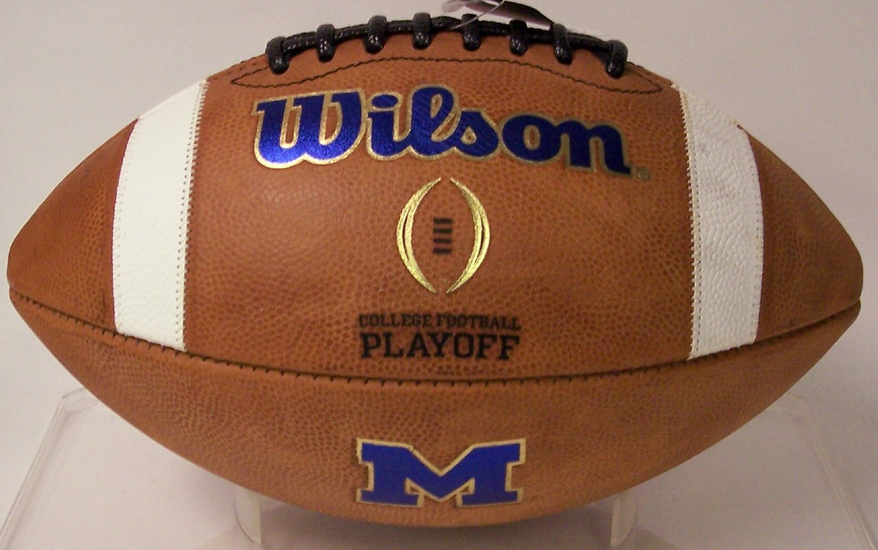 Michigan Wolverines Wilson Authentic Game Day Football