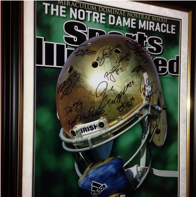 b0c0a680d Notre Dame Senior Class 2012 Signed Sports Illustrated Cover 16 x 20