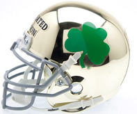 Notre Dame Undefeated Season Gold Chrome Mini Helmet
