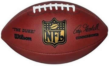 Wilson F1100 Official NFL Leather Football - The Duke