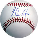 Nolan Ryan autographed baseball with COA