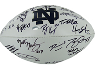 Notre Dame 2011-2012 Senior Class Signed ND Football