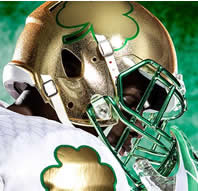 Notre Dame 2013 Shamrock Series Hydrofx Authentic Speed Full Size Football Helmet