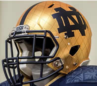 Notre Dame 2014 Shamrock Series Interlocking ND Hydrofx Authentic Speed Full Size Football Helmet